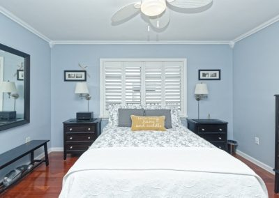 An example of a wide angle bedroom interior with distortion correction